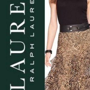 Ralph Lauren Leopard Print Ruffle Skirt